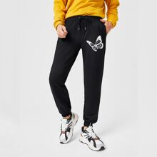 Guys Butterfly Graphic Sweatpants