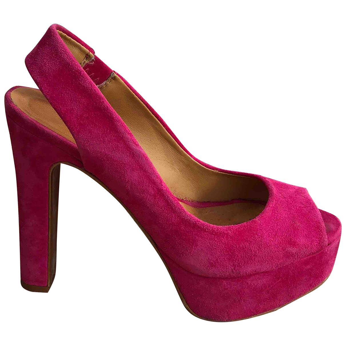 Zara - Sandales   pour femme en cuir