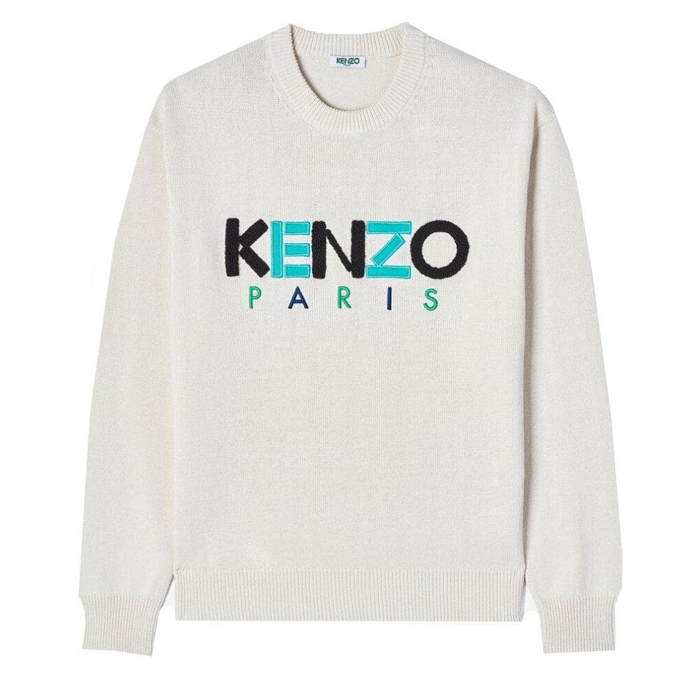 Kenzo Paris Wool Jumper Colour: CREAM, Size: LARGE