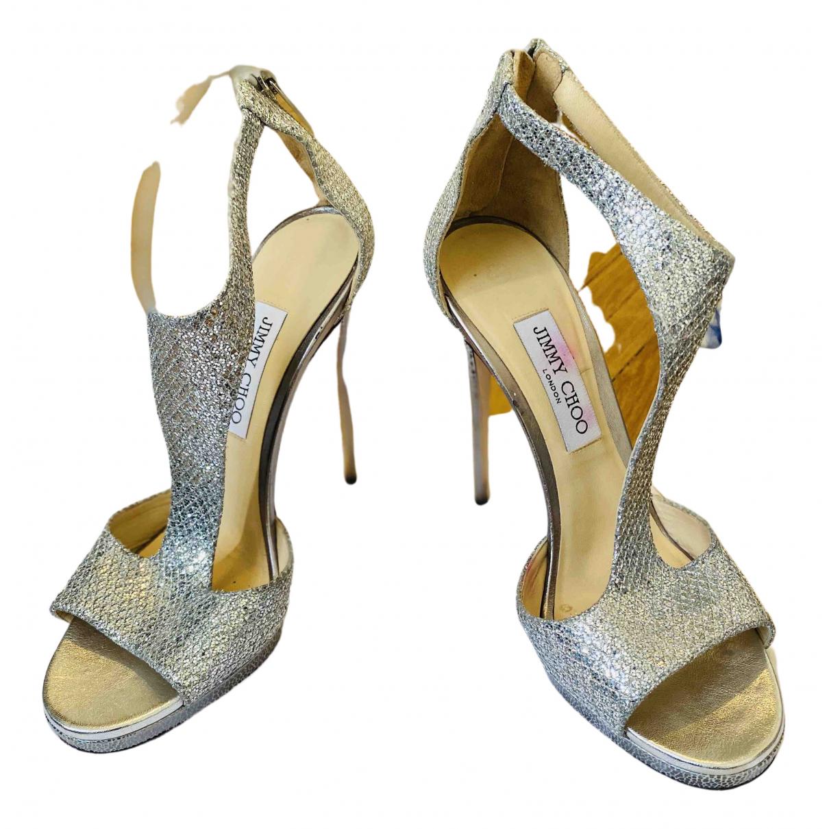 Jimmy Choo \N Silver Glitter Heels for Women 40 EU