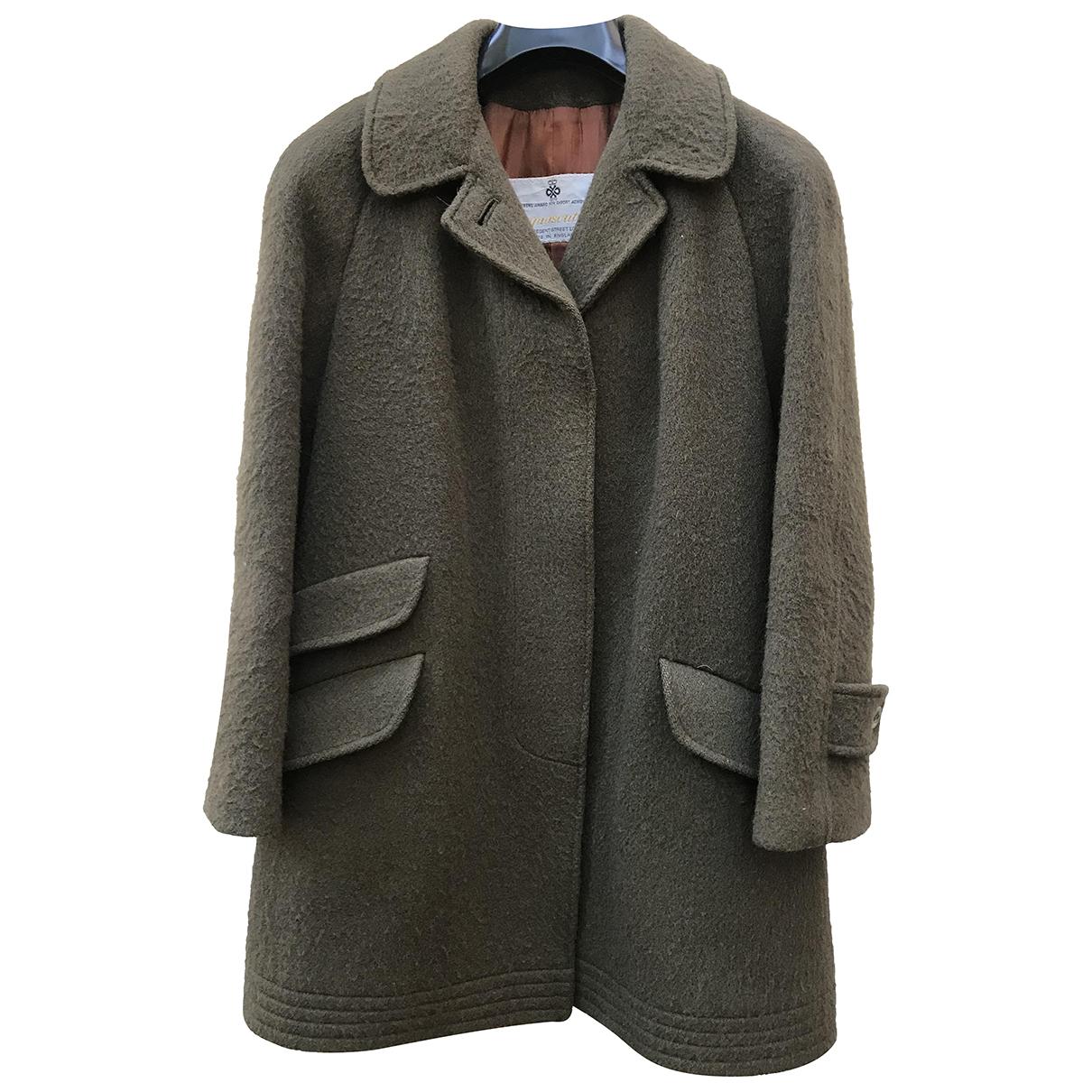 Aquascutum N Green Wool coat for Women 44 IT