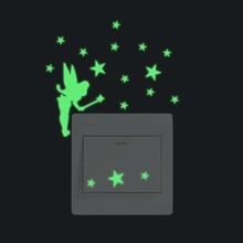 Fairy Print Luminous Switch Sticker