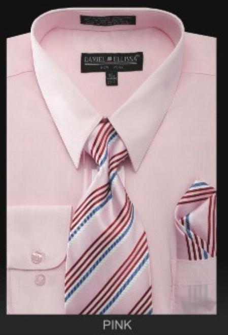 Mens Dress Shirt PREMIUM TIE Pink