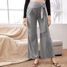 Maternity Tie Front Wide Leg Pants