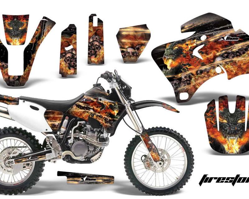 AMR Racing Dirt Bike Graphics Kit Decal Wrap For Yamaha WR 250F  400F  426F 1998-2002áFIRESTORM BLACK