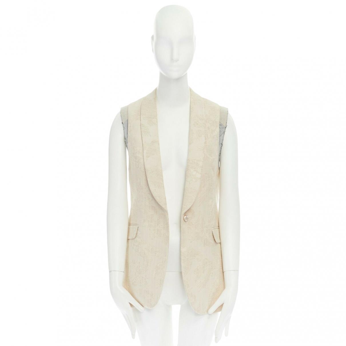 Dries Van Noten - Veste   pour femme en coton - beige