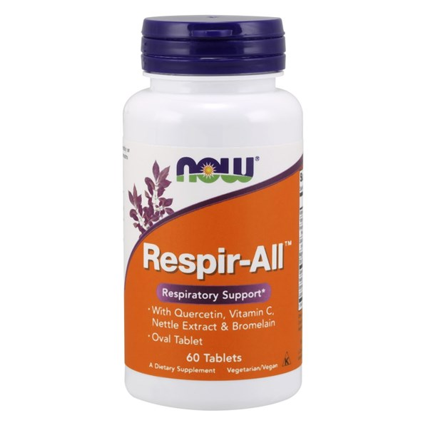 Respir-All Allergy 60 Tabs by Now Foods