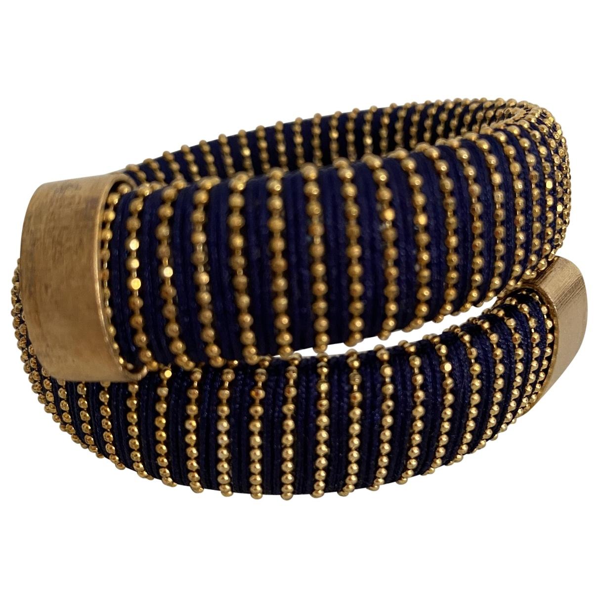 Carolina Bucci \N Armband in  Blau Seide