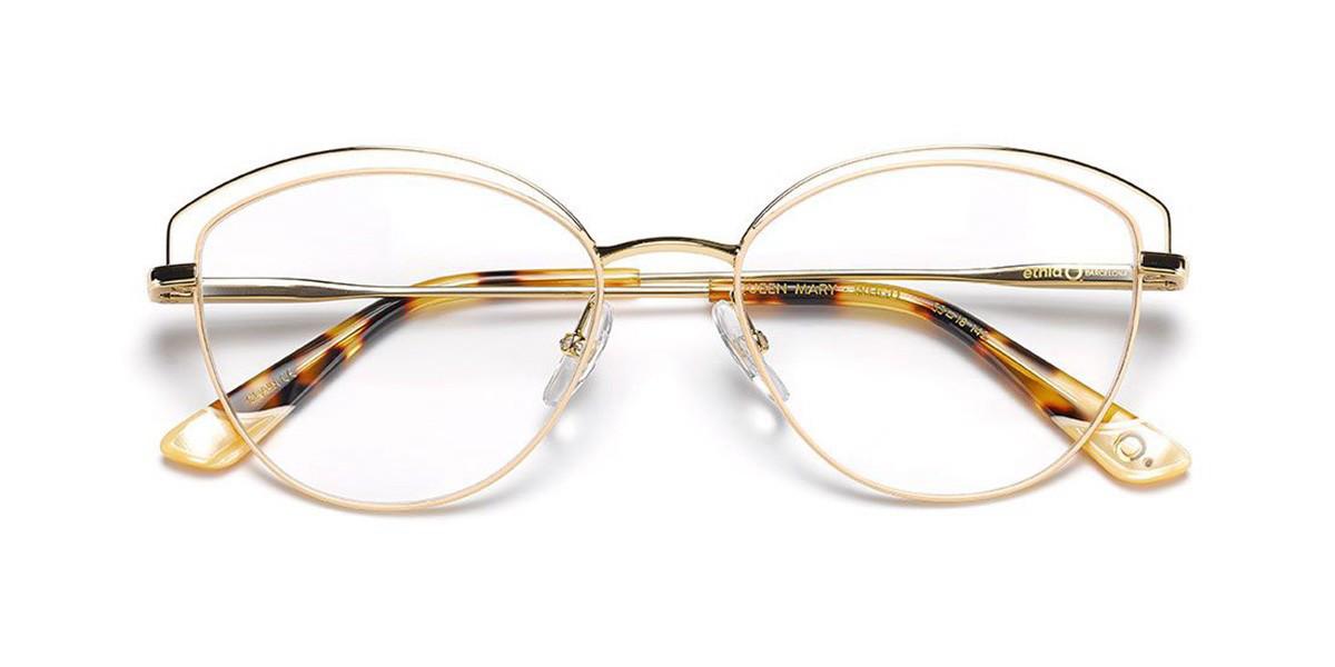 Etnia Barcelona Queen Mary WHGD Women's Glasses Gold Size 53 - Free Lenses - HSA/FSA Insurance - Blue Light Block Available