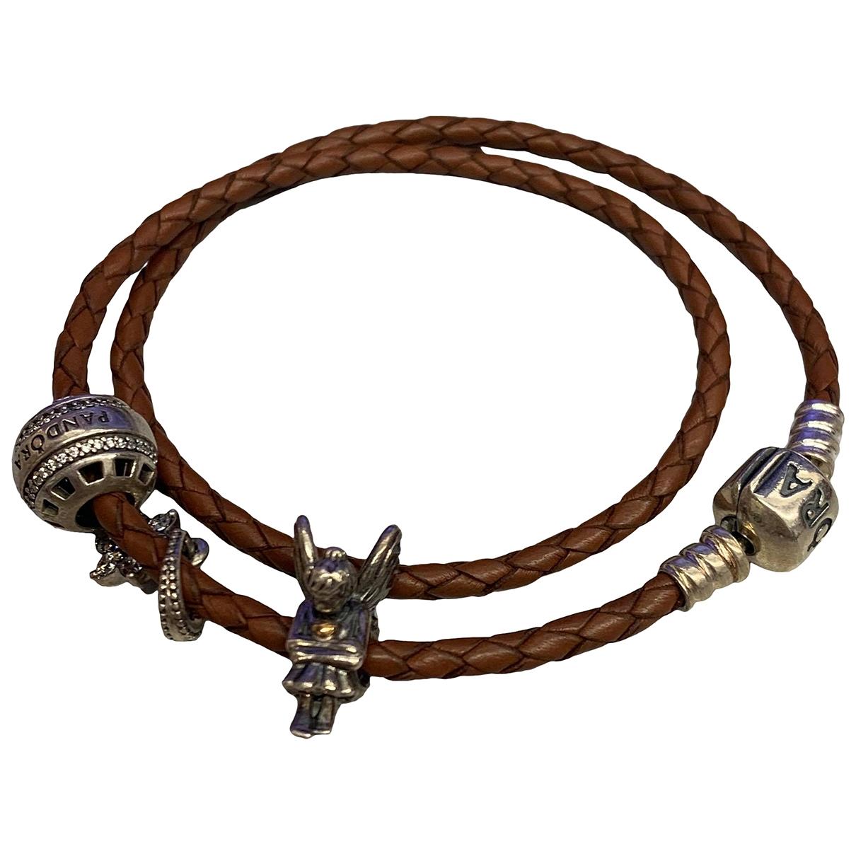 Pandora \N Armband in  Braun Leder