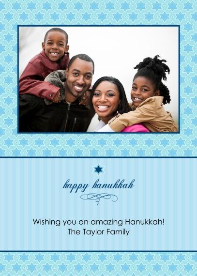 Hanukkah Photo Cards 5x7 Cards, Standard Cardstock 85lb, Card & Stationery -happy hanukkah