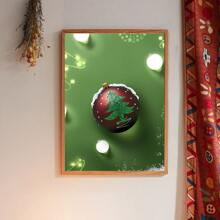 Christmas Ball Print Wall Painting Without Frame