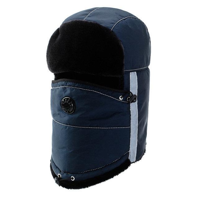 Men Thick Warm Hat Ear Protection Windproof Cap Cotton Hat Trapper Hat