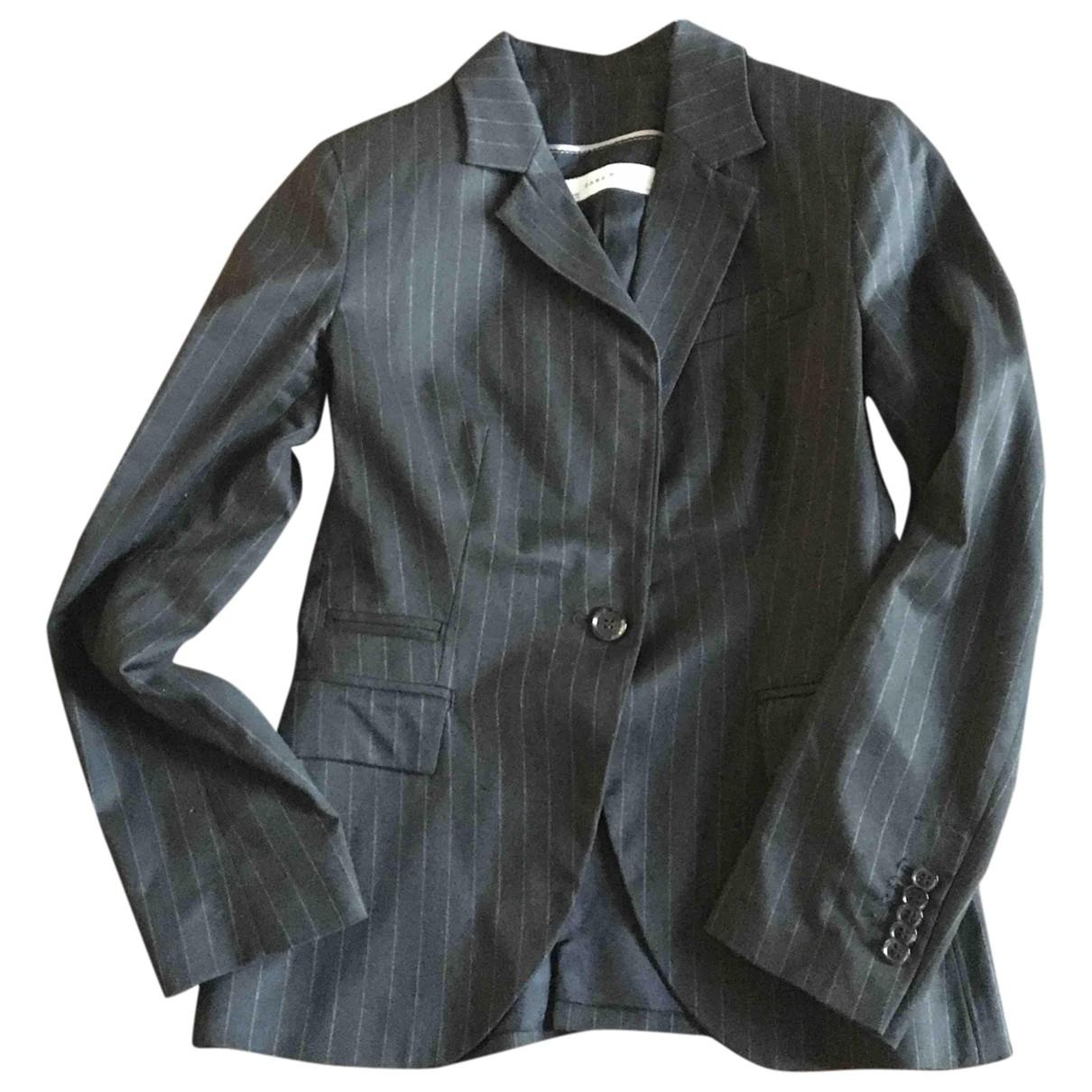 Zara \N Jacke in  Anthrazit Polyester