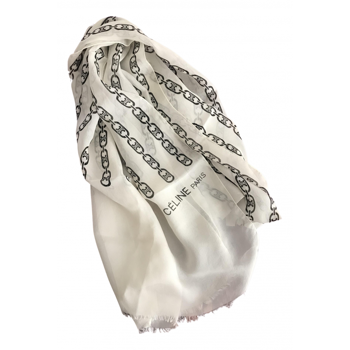 Celine N White Silk scarf for Women N