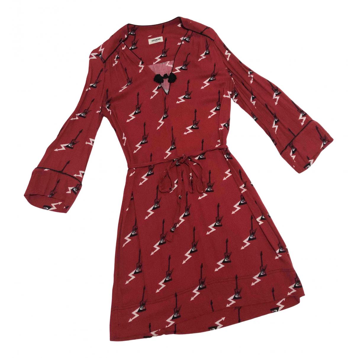 Zadig & Voltaire \N Kleid in  Rot Viskose