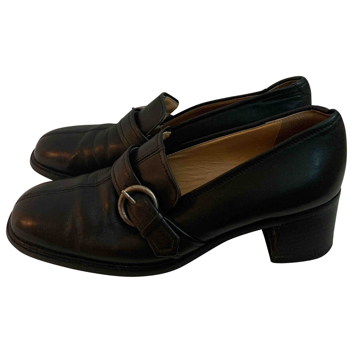Coach \N Black Leather Heels for Women 8 US