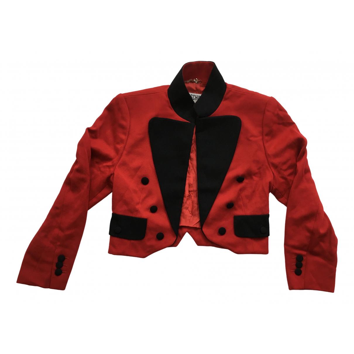Moschino - Veste   pour femme en laine - rouge