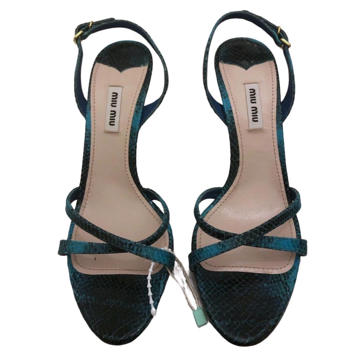 Miu Miu \N Sandalen in  Blau Leder