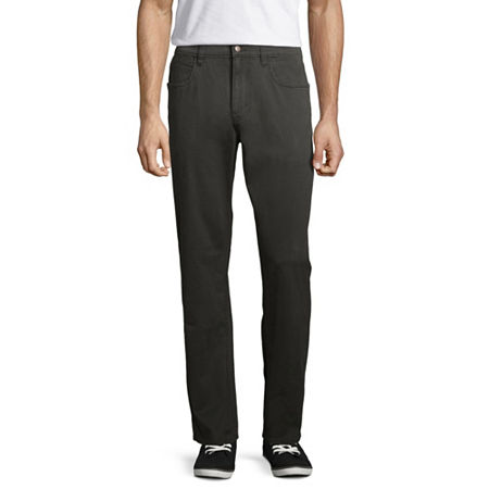 St. John's Bay Stretch Straight Fit 5 Pocket Pants, 32 29, Black