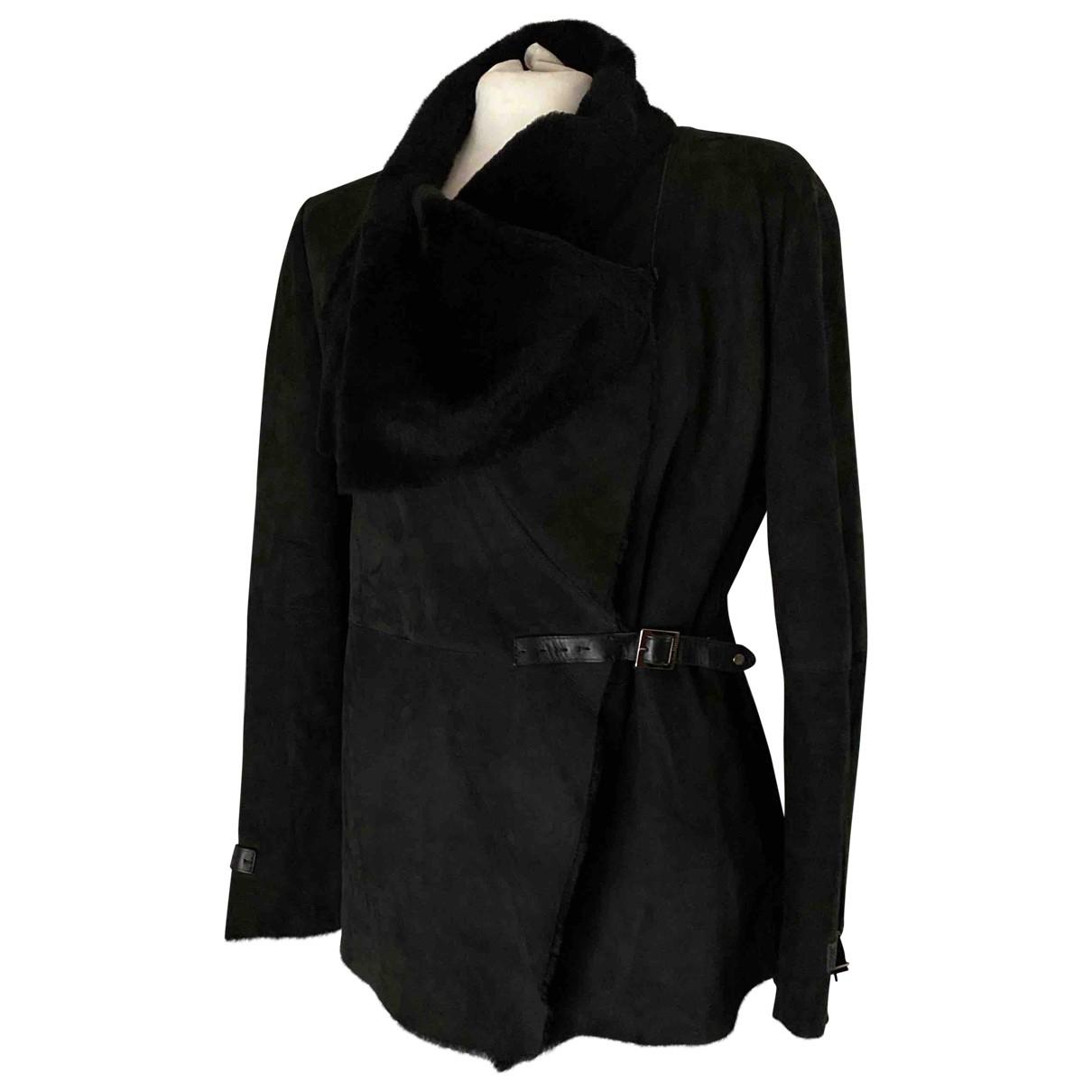 Fratelli Rossetti - Veste   pour femme en cuir - noir