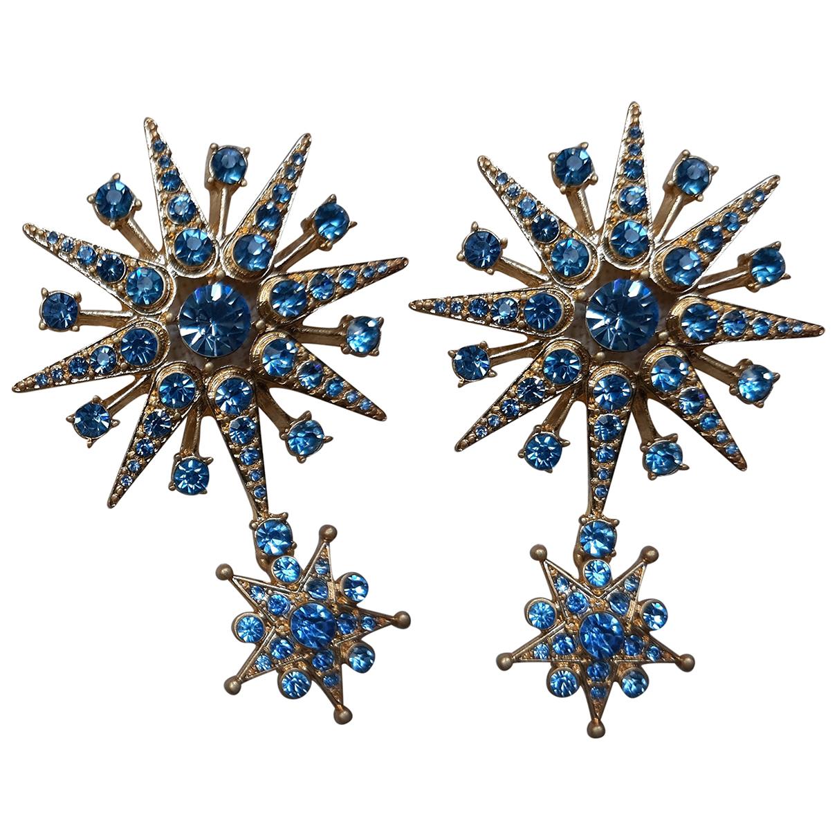Oscar De La Renta \N OhrRing in  Blau Metall