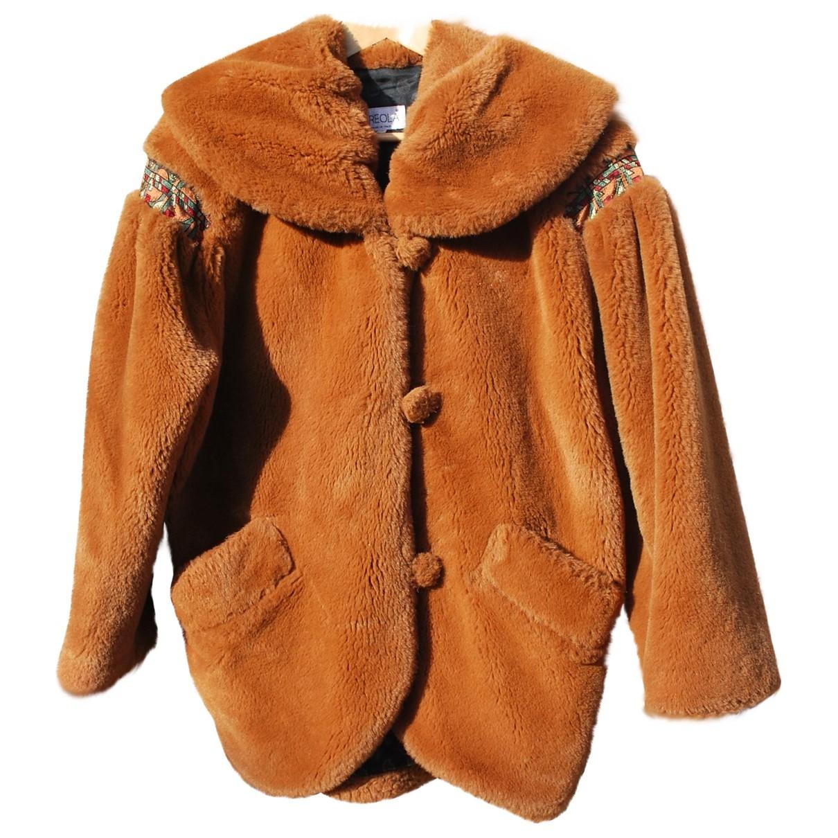 Non Signé / Unsigned \N Camel Faux fur coat for Women 38 FR