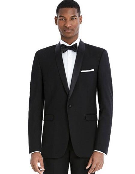 Mens Black best Suit buy one get one suits free Slim Fit Suit