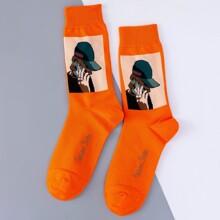 Men Cartoon Graphic Socks