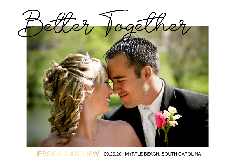 Wedding Set of 20, Premium 5x7 Foil Card, Card & Stationery -Better Together