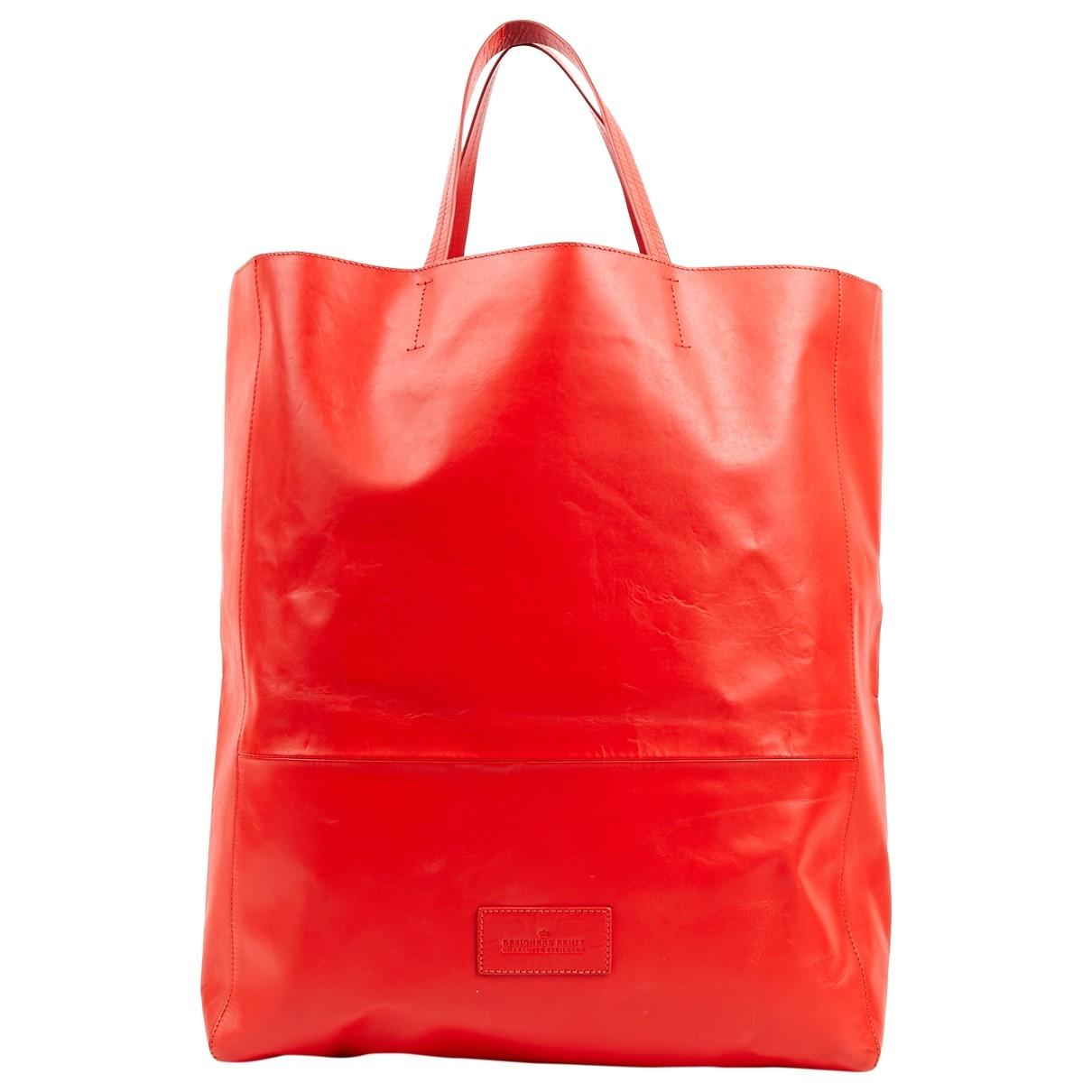 Designers Remix \N Handtasche in  Rot Leder