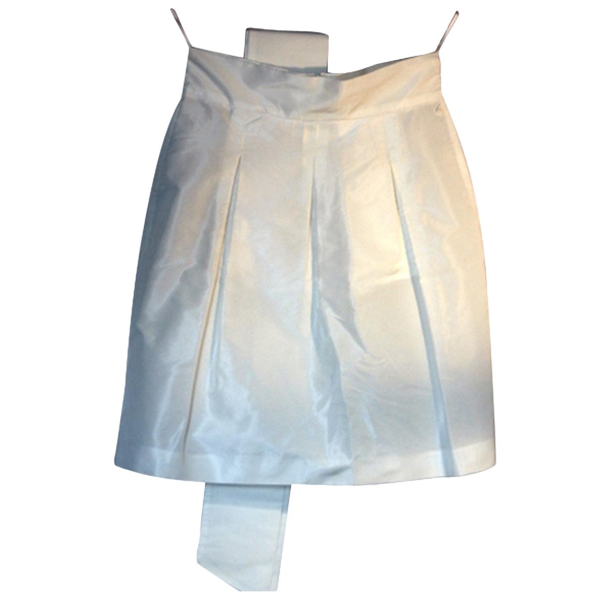 Miu Miu - Jupe   pour femme en soie - blanc