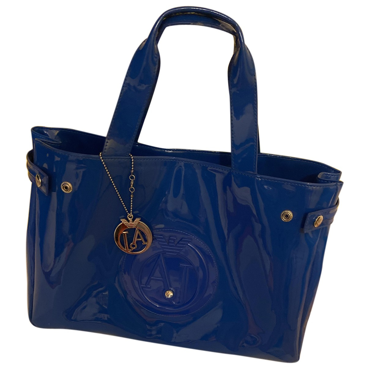 Armani Jeans \N Handtasche in  Blau Lackleder