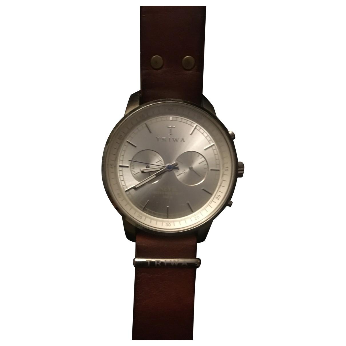 Triwa \N Brown Steel watch for Men \N