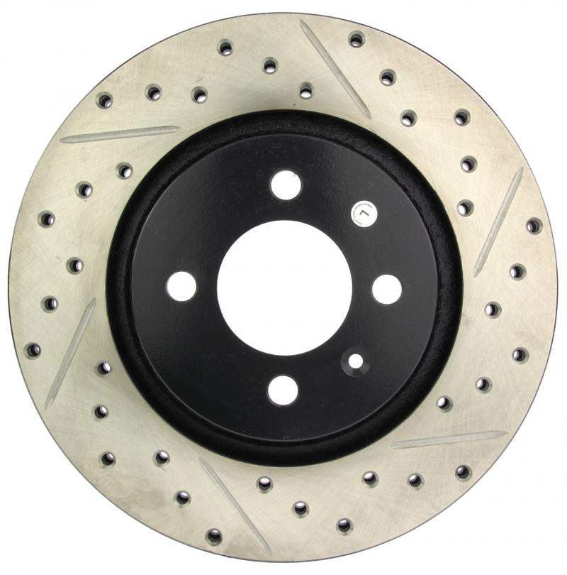 StopTech 127.33028L Sport Drilled/Slotted Brake Rotor; Front Left Front Left