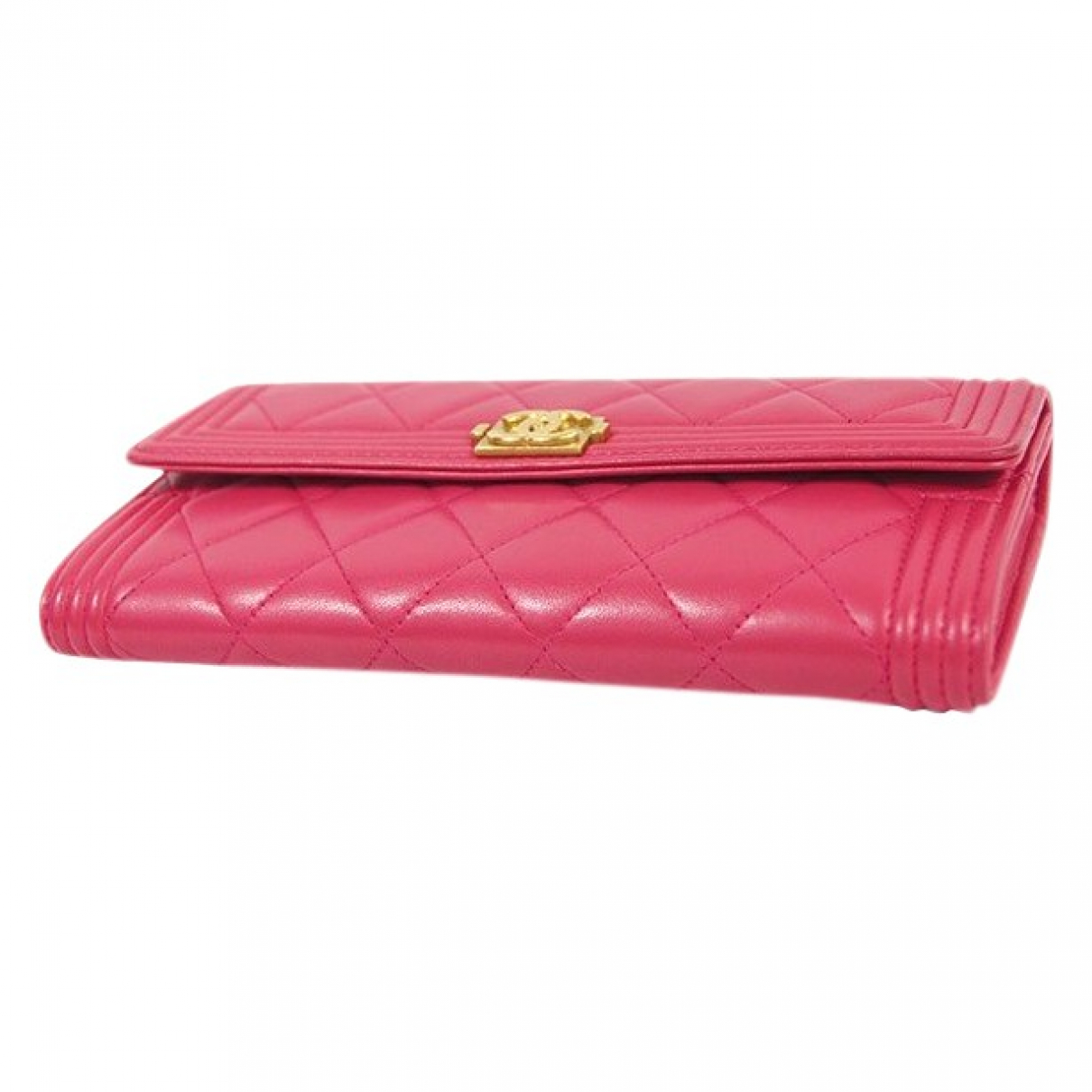 Chanel Boy Pink Leather wallet for Women N