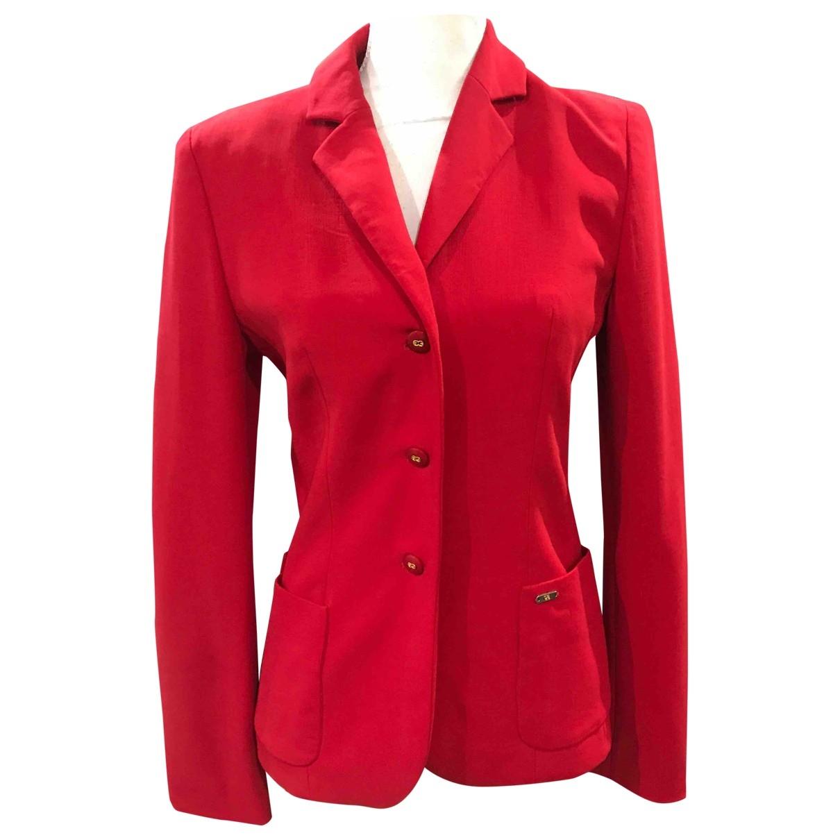 Escada - Veste   pour femme en laine - rouge