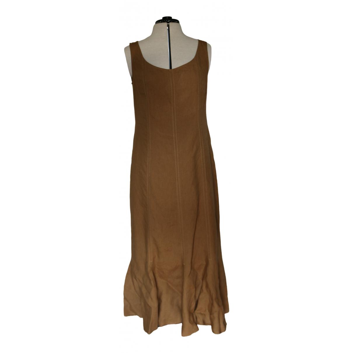 Max Mara Weekend - Robe   pour femme en lin - camel