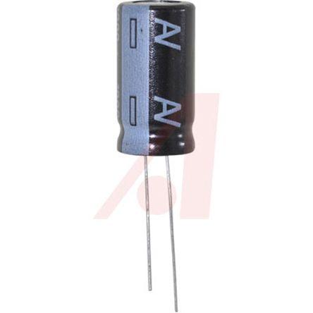 KEMET 1000μF Electrolytic Capacitor 35V dc, Through Hole - ESY108M035AL4AA (50)
