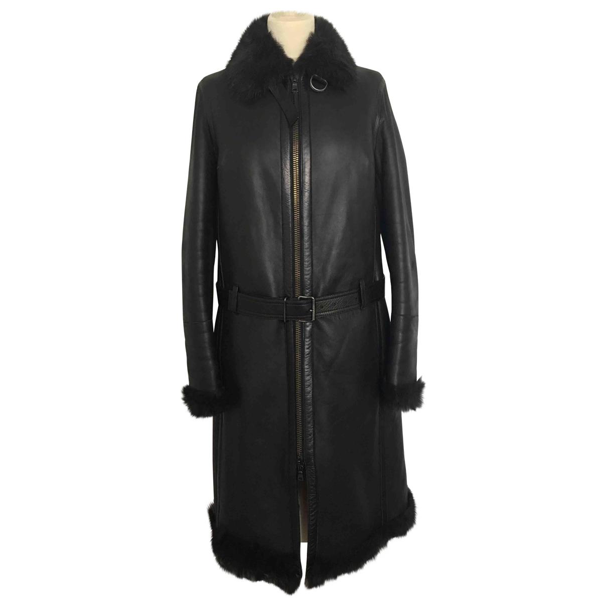 Prada - Manteau   pour femme en mouton - marron