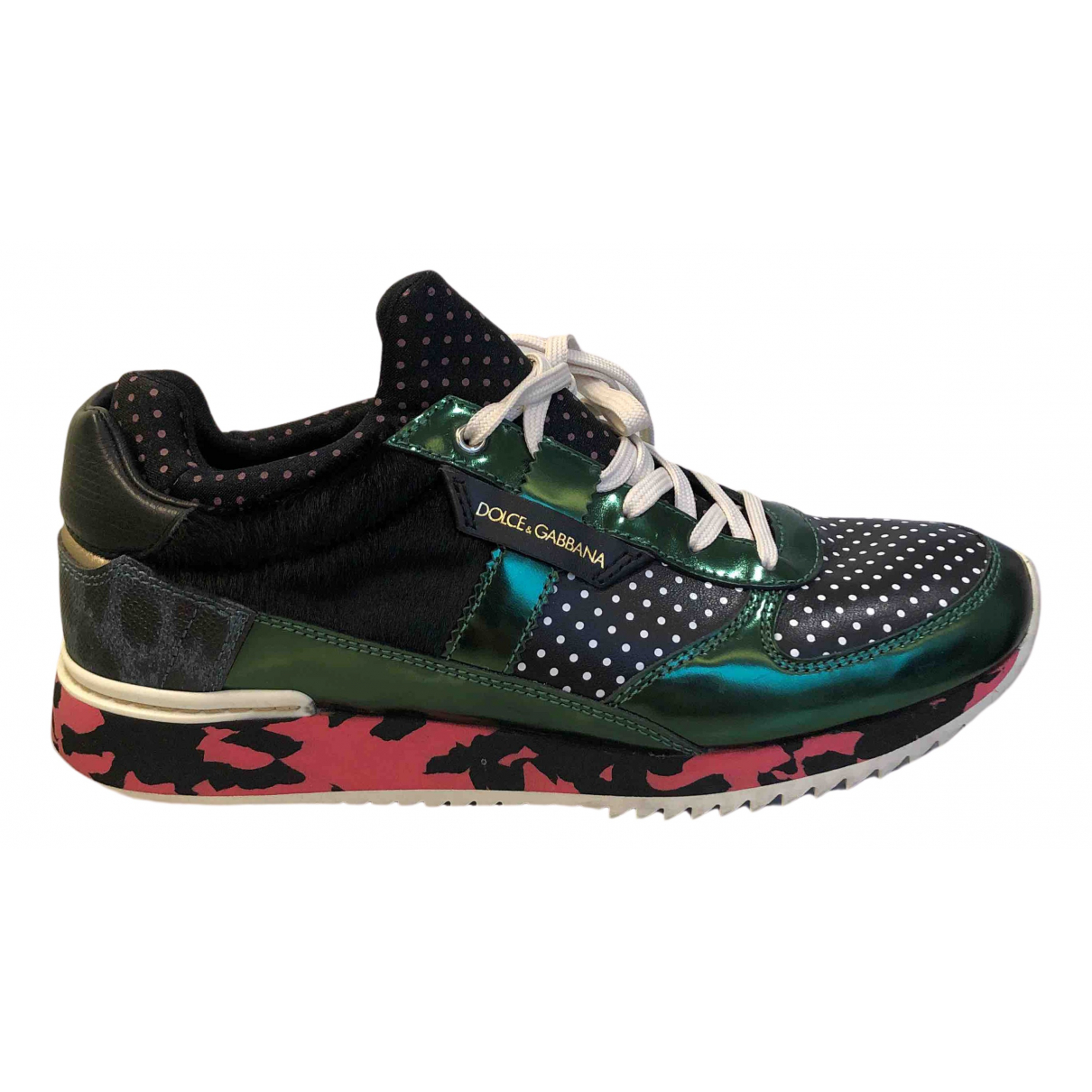 Dolce & Gabbana N Multicolour Leather Trainers for Women 38 EU
