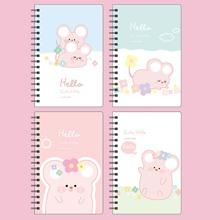 1 Pack Zufaelliges Notizbuch mit Maus Muster Decke