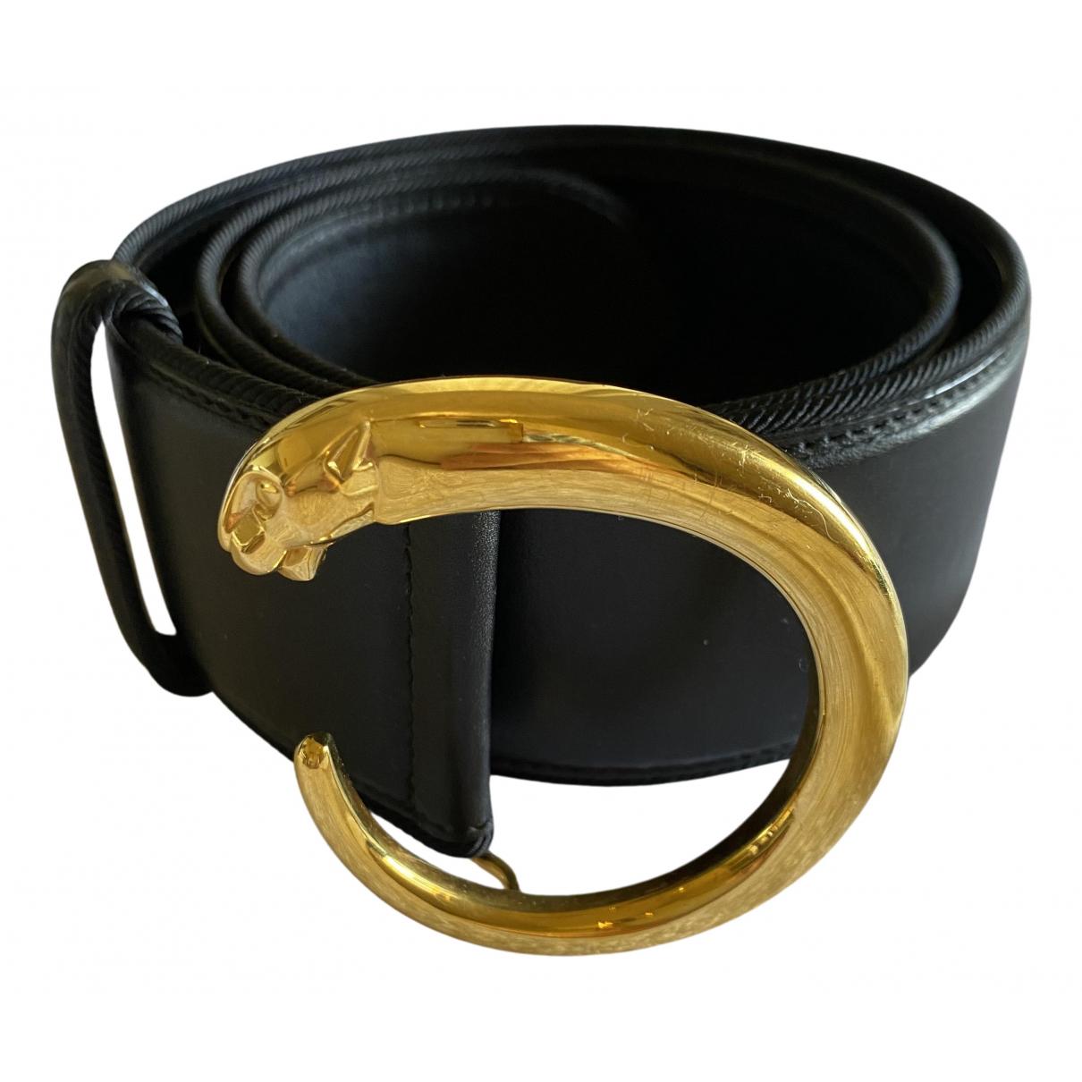 Cartier \N Guertel in  Schwarz Leder