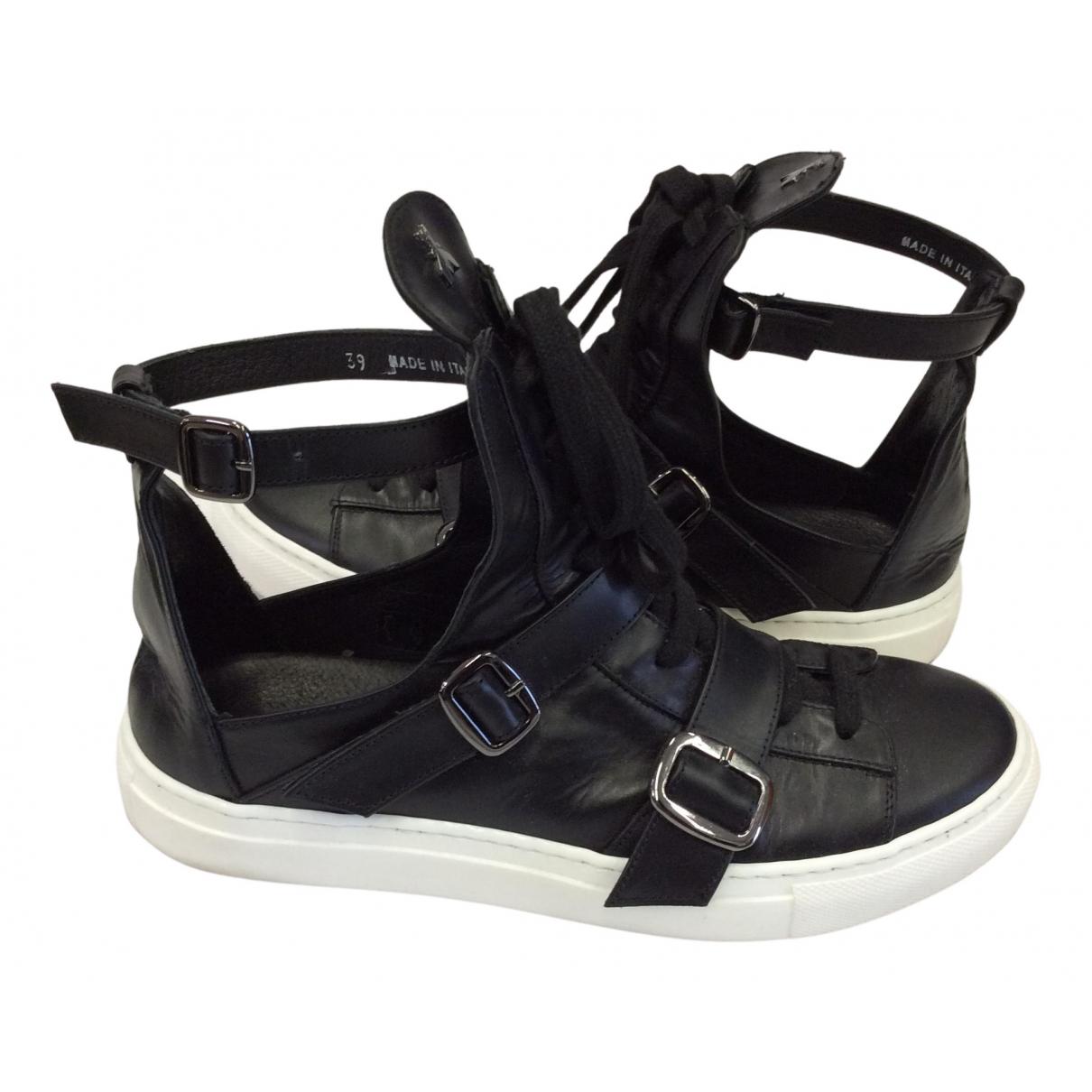 Patrizia Pepe \N Sneakers in  Schwarz Leder