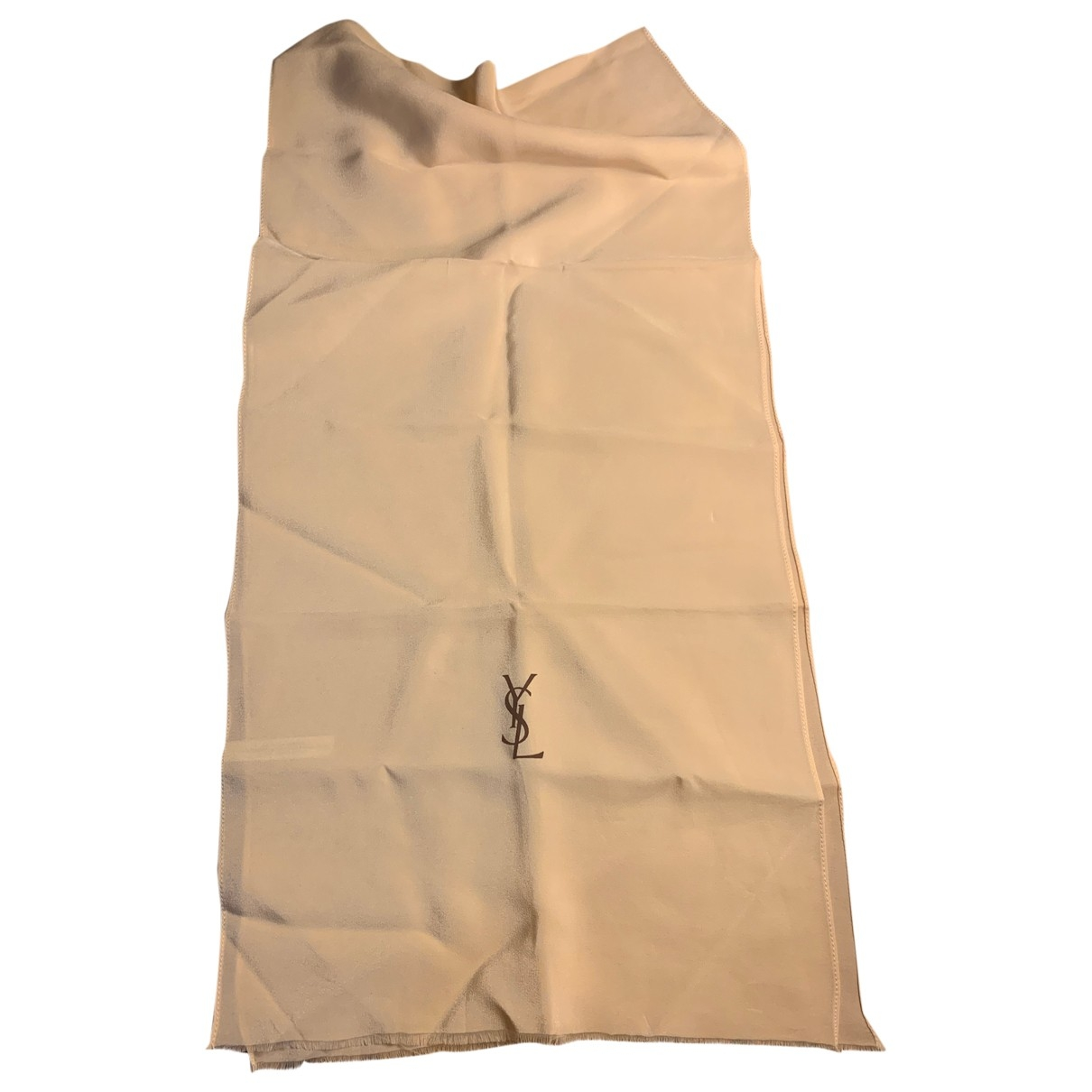Yves Saint Laurent \N Beige Silk scarf for Women \N