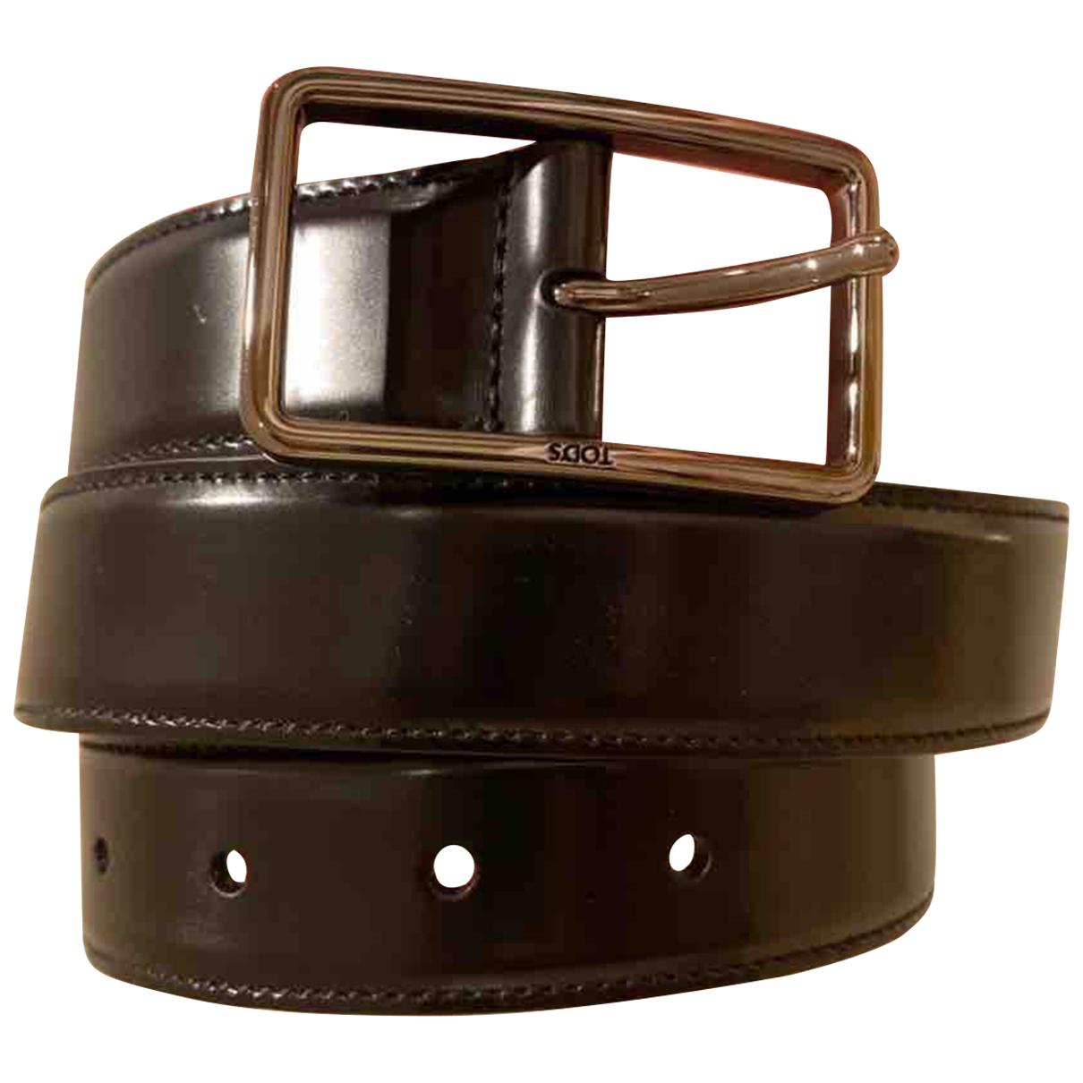 Tod's \N Black Leather belt for Men 85 cm