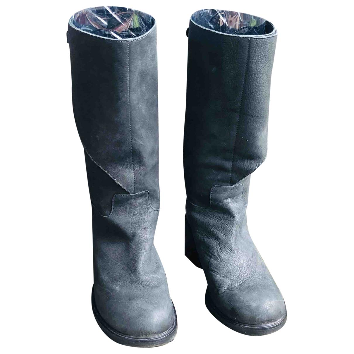 Af Vandevorst - Boots   pour femme en cuir - gris