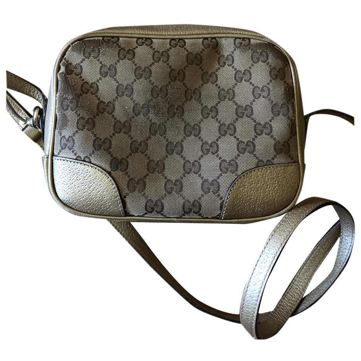 Gucci \N Clutch in  Gold Leinen