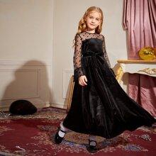 Vestidos para niñas Cremallera Lunares Glamour