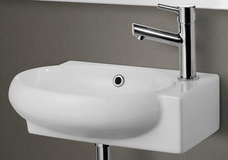 AB107 small wall mounted ceramic bathroom sink basin with porcelain  1 3/4